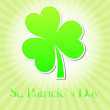 St. Patrick's Day with green shamrock — Stock Photo #20181079