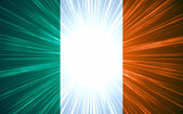 Irish flag with light rays — Stock Photo