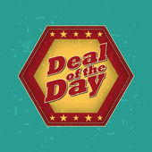 Deal of the day - retro label — Stock Photo