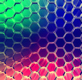 Abstract multicolored shining hexagons background — Stock Photo