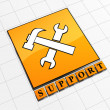 Support concept icon — Stock Photo