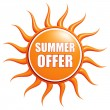 Summer offer — Stock Photo