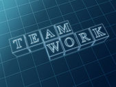 Teamwork cubes — Stock Photo
