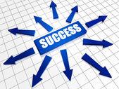 Successo e frecce — Foto Stock