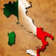 Italian map with flag — Stock Photo #21663041