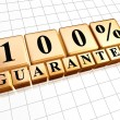 Stock Photo: 100 percent guarantee