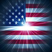 Amerikaanse sterren licht — Stockfoto