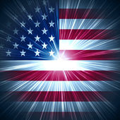 Luce di stelle americane — Foto Stock