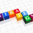 Strategy in colour — Stock Photo
