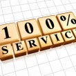 Stock Photo: 100 percentages service