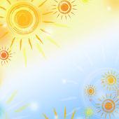 Cielo con sole — Foto Stock