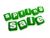 Spring sale - text in green cubes — Stock Photo