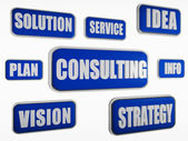 Consulting - blue business concept — Stock Photo