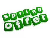 Spring offer - text in green cubes — Stock Photo