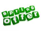 Offre de printemps - texte en cubes verts — Photo