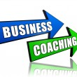 Stock Photo: Business coaching in arrows