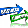 Business coaching in arrows — Stock Photo
