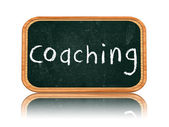 Coaching on blackboard banner — Zdjęcie stockowe