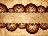 Retro background with brown circles and text space — Stock Photo