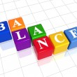 Balance in colour — Stock Photo