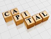 Capital oro — Foto de Stock