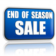 End of season sale blue banner — Stock Photo