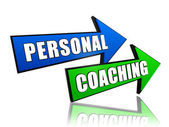 Personal coaching in arrows — Stock Photo