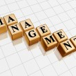 Golden management — Stock Photo
