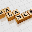 Golden balance — Stock Photo