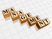 Golden management — Stock Photo