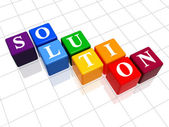 Solution in colour — Stock Photo