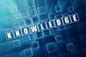 Knowledge in blue glass cubes — Stock Photo