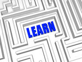 Blue learn in labyrinth — Stock Photo