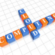 Cloud computing puzzle — Stock Photo
