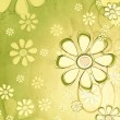 Spring beige flowers over vintage green background — Stock Photo #22506825