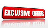 Exclusive offer red banner — Stock Photo
