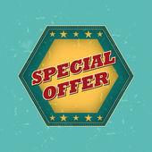 Oferta especial - etiqueta retro — Foto de Stock