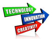Technology, innovation, creativity in arrows — Stock Photo