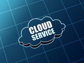 Cloud service blue figure — Stockfoto
