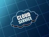 Cloud service blue figure — Stockfoto