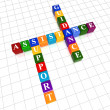 Assistance, support, guidance in color cubes crossword — Stock Photo #22767588