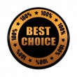 Stock Photo: Best choice 100 percentages in golden black circle label