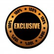 Royalty-Free Stock Photo: Exclusive 100 percentages in golden black circle label