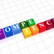 Stock Photo: Competence in color cubes