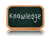 Knowledge on blackboard banner — Stock Photo