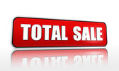 Total sale red banner — Stock Photo