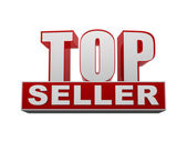 Top seller in 3d letters and block — Stockfoto