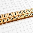 Business opportunity in golden cubes — Stock Photo