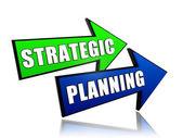 Strategic planning in arrows — Stock Photo