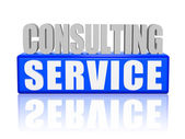 Consulting service in 3d letters and block — Stock Photo